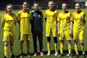 Six Vale Ladies and Girls footballers selected to represent the Wales Under-15 National Squad