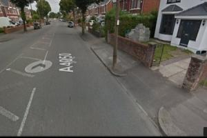 The incident took place on the junction of Colcot Road and Greenbanks Drive. Picture: Google