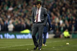 DEFENSIVE: Wales manager Chris Coleman during Friday's 0-0 draw with Ireland in Dublin