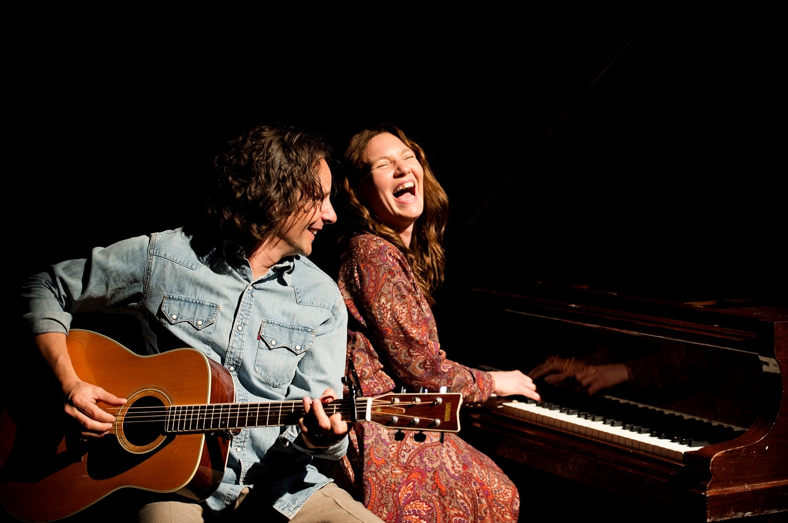 Kyla Brown stars as Carole King and Bill Lennon is James Taylor