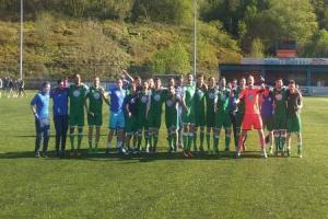 Barry celebrate winning Welsh League Division One