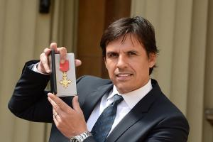 Wales football manager Chris Coleman gets his OBE at the palace