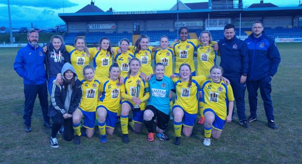 Barry And District News: Barry Town United U16 girls went unbeaten throughout their season
