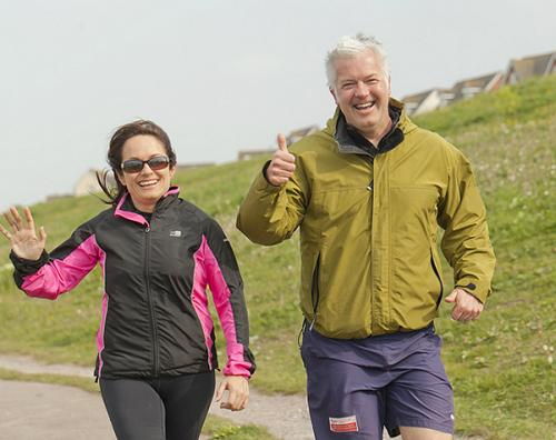 Barry And District News: Sue Charles and Derek Brockway at the Barry Island parkrun