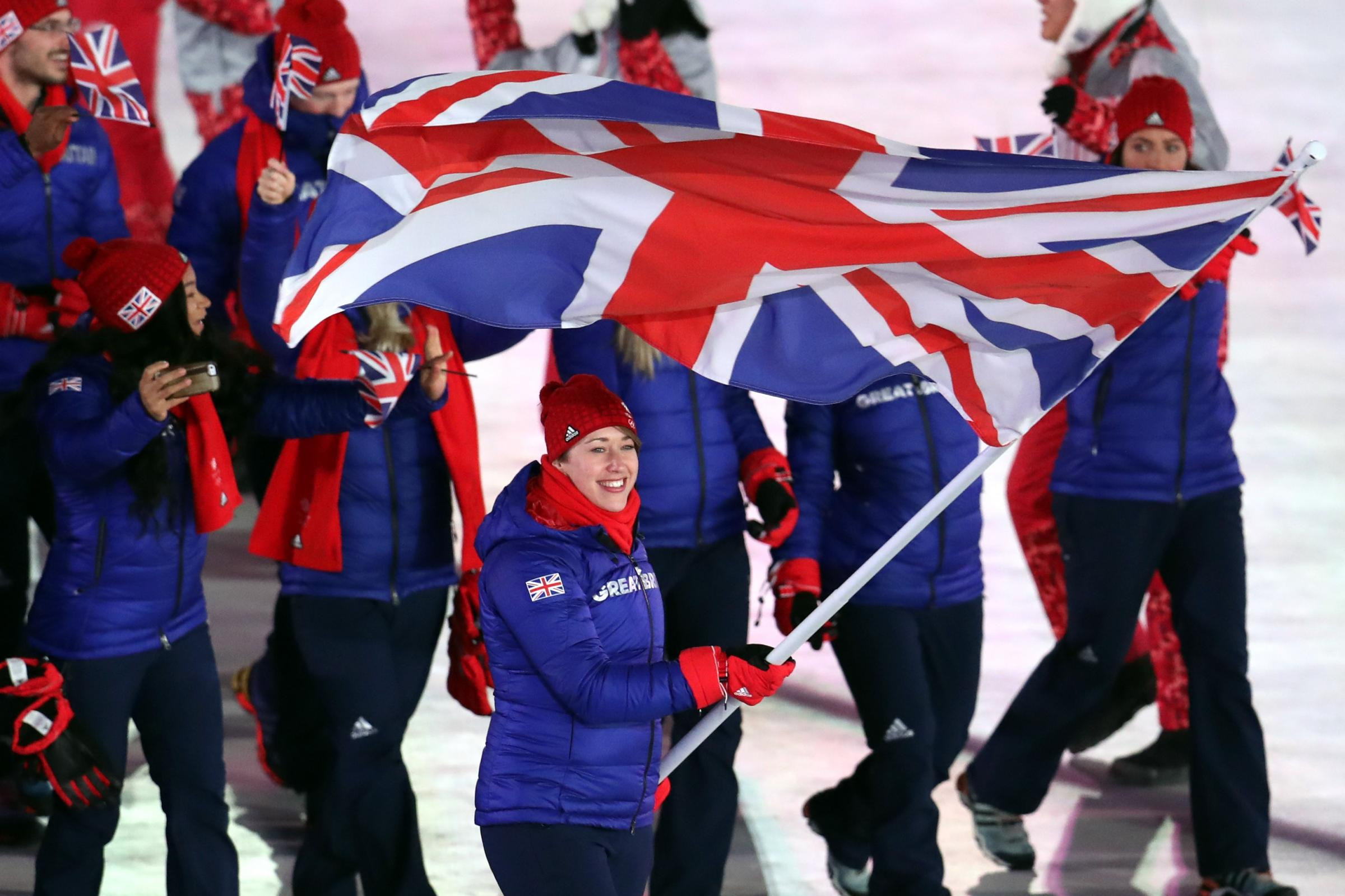 Defending Olympic skeleton champion Lizzy Yarnold, Great Britain's flag bearer at the opening ceremony, is coming into form in Pyeongchang (Mike Egerton/PA Images)