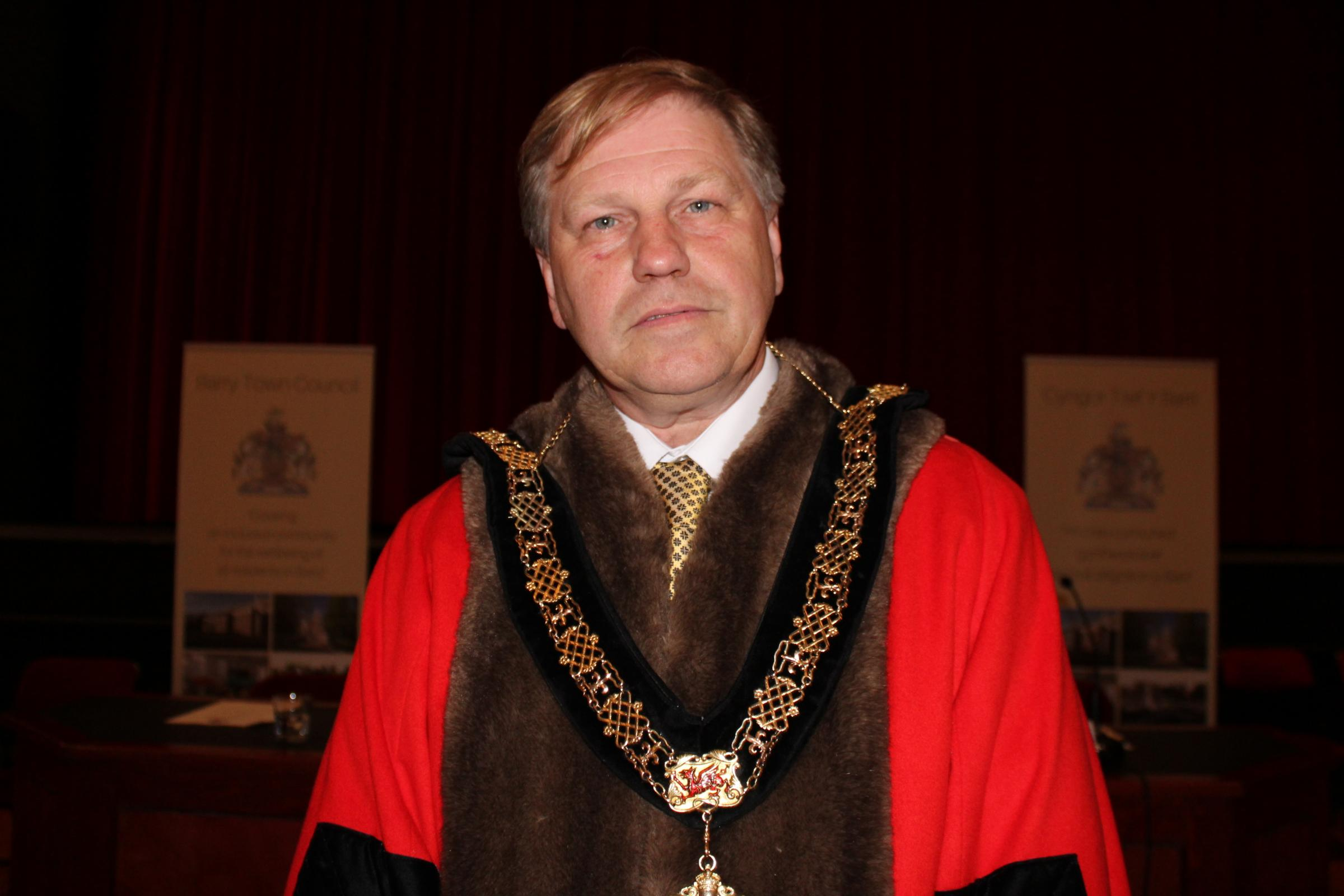 Barry town council mayor, Cllr Nic Hodges