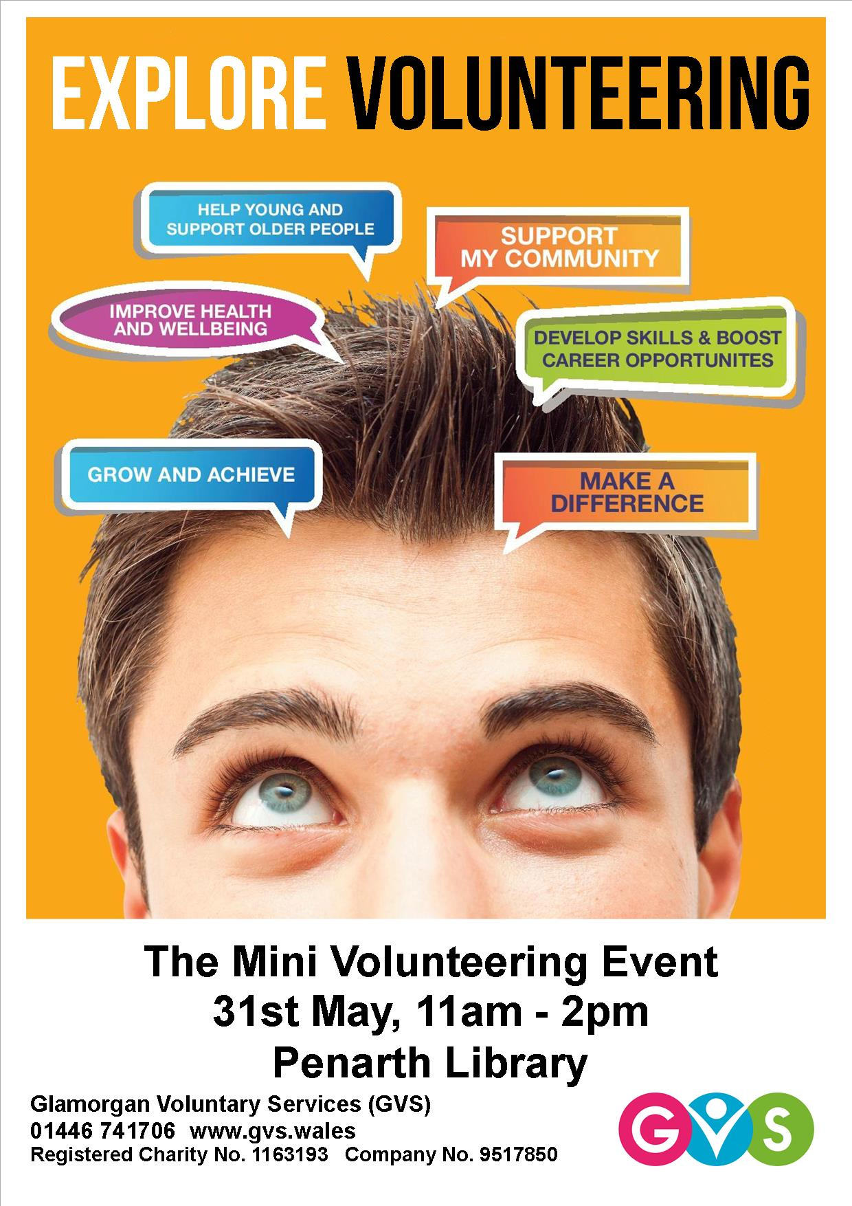 GVS' Mini Volunteering Event in Penarth Library