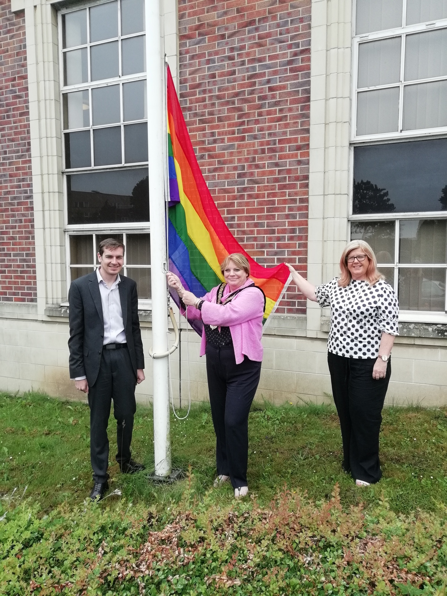 Town council flies the flag to recognise Pride Month