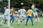 Match action from Barry's clash with TNS. Picture by Rhys Skinner