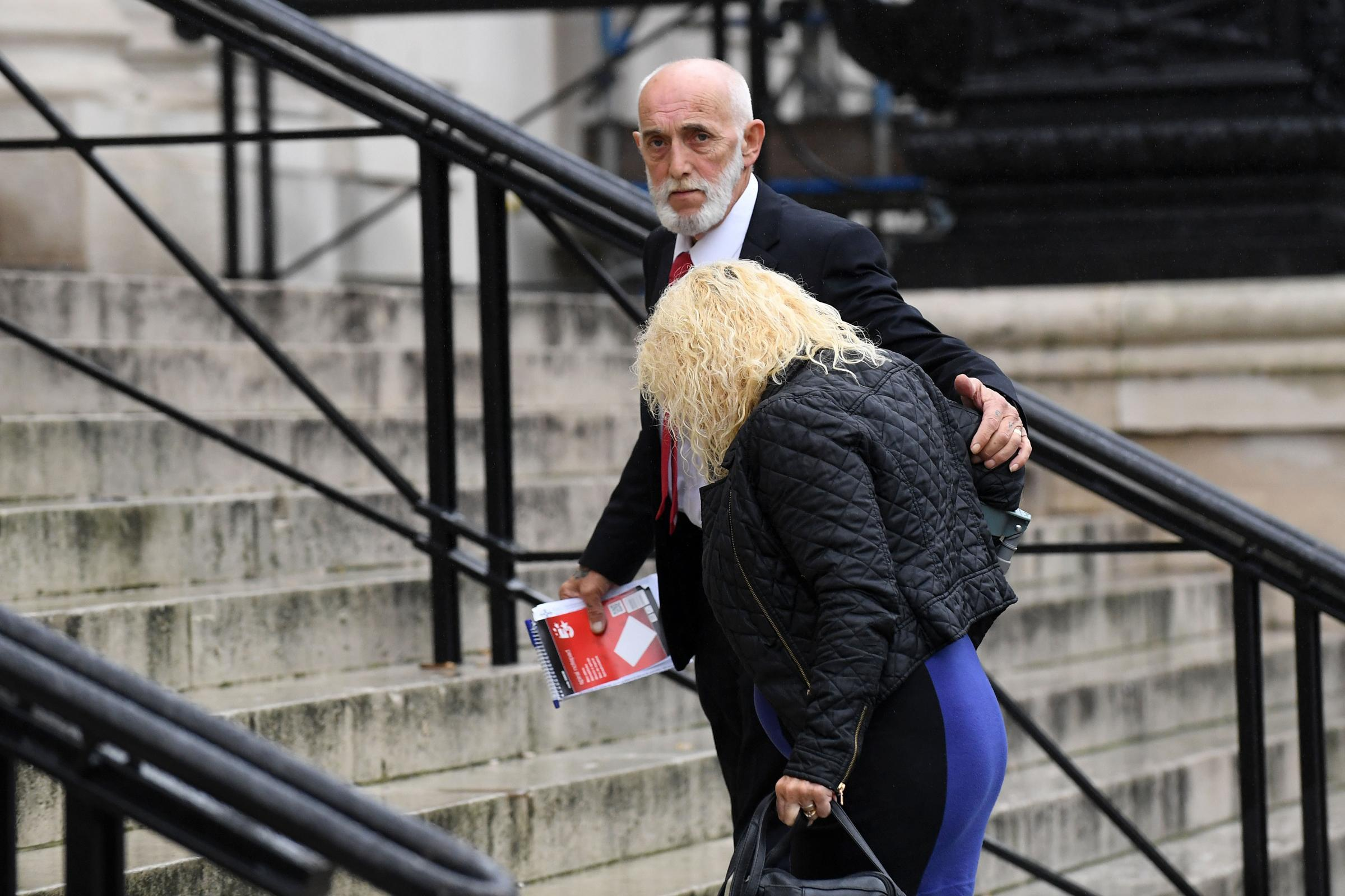 Peter and Avril Griffiths outside Cardiff Crown Court. © WALES NEWS SERVICE