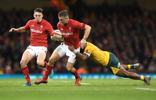 Wales' Gareth Anscombe during Saturday's milestone 9-6 win over Australia