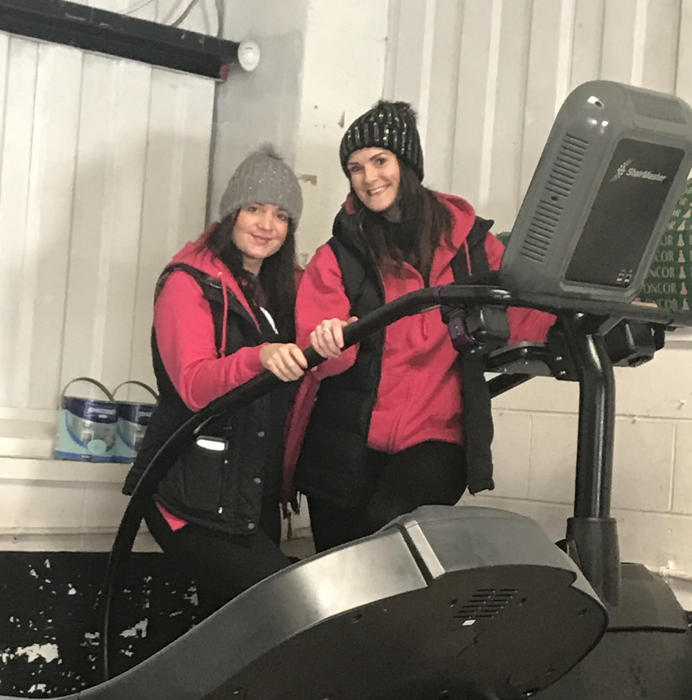 Sarah Cayton and Michelle Hunt step up their training