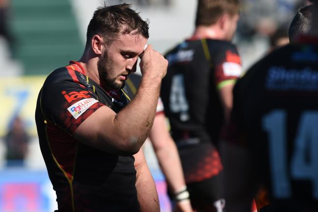 INJURY BLOW: Dragons back rower Ollie Griffiths missed the chance to push for the Wales squad after suffering a torn bicep
