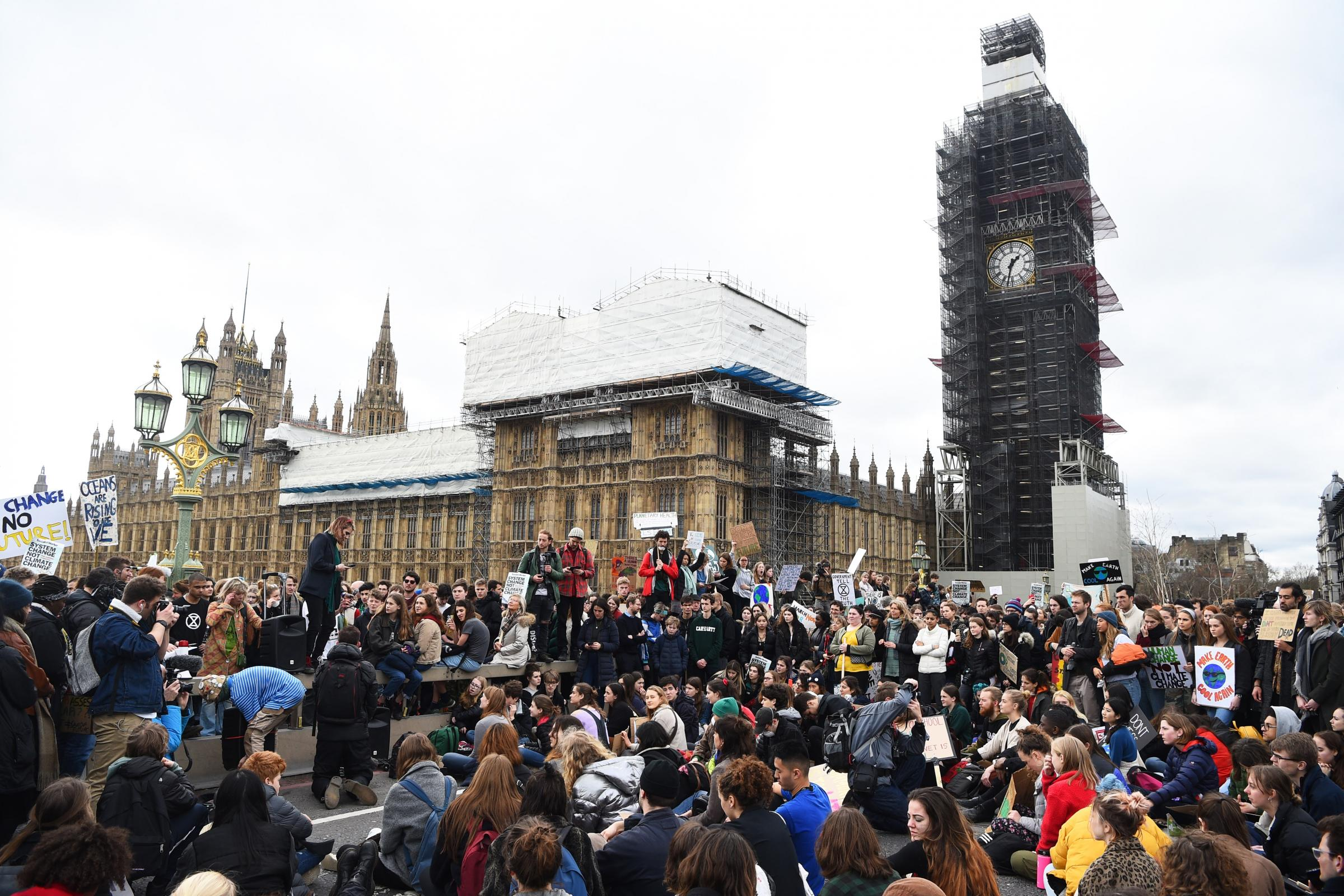Thousands of climate protesters gathered in London as part of a global school strike for action on the issue (Kirsty O'Connor/PA)