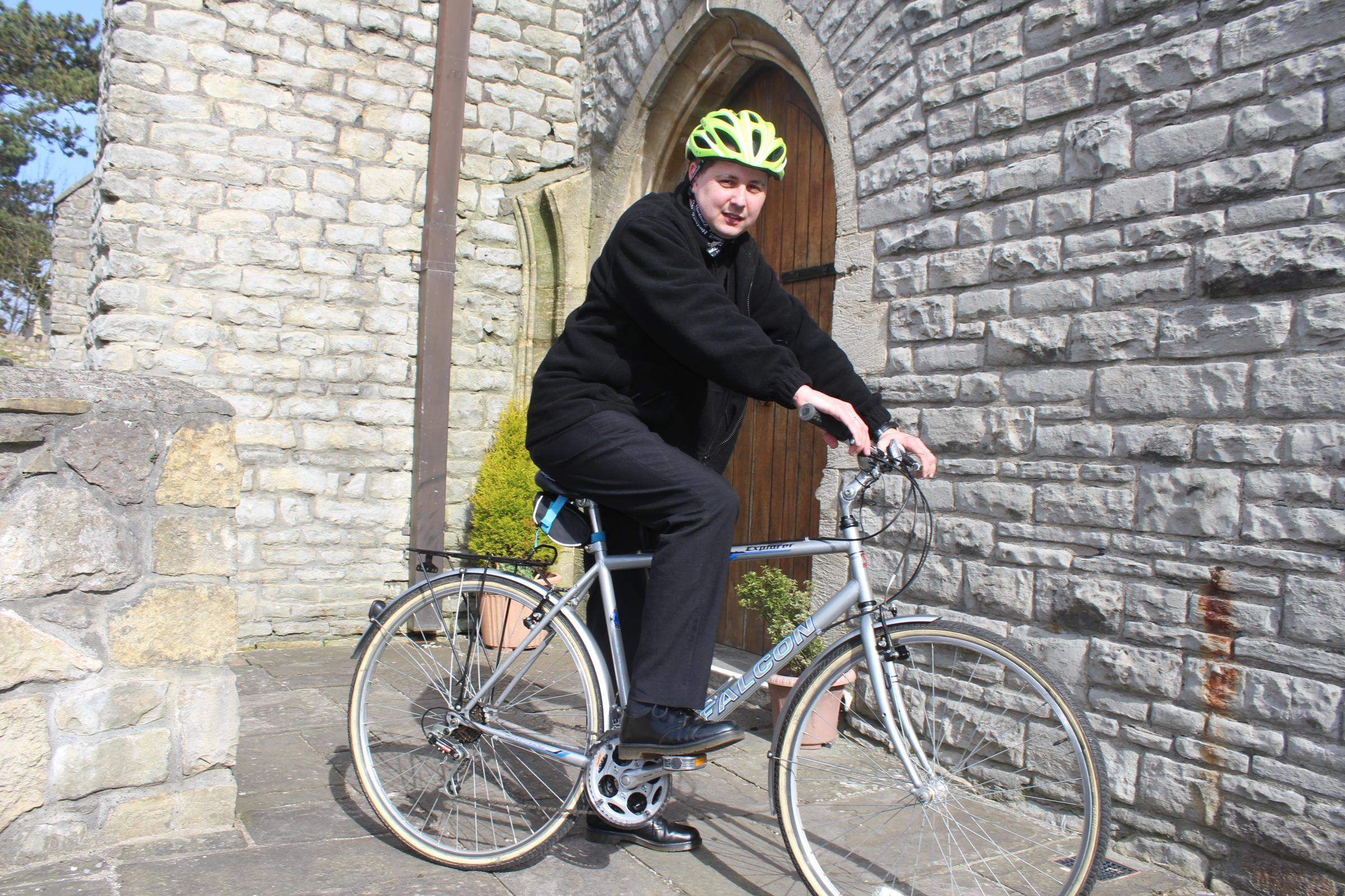 Barry clergyman gets on his bike for an Easter challenge