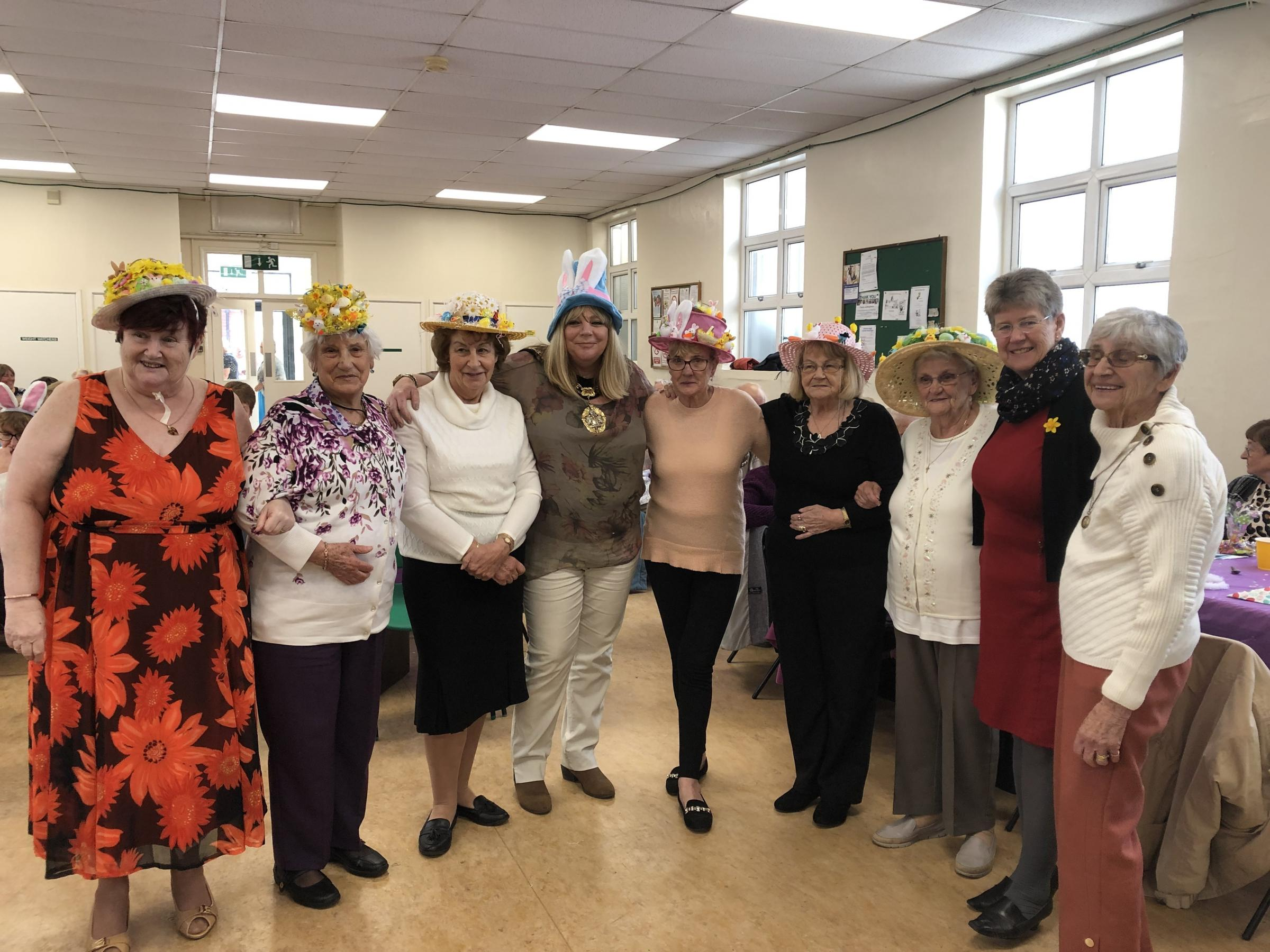 Easter bonnet winners at the Barry Friends and Neighbours Easter party