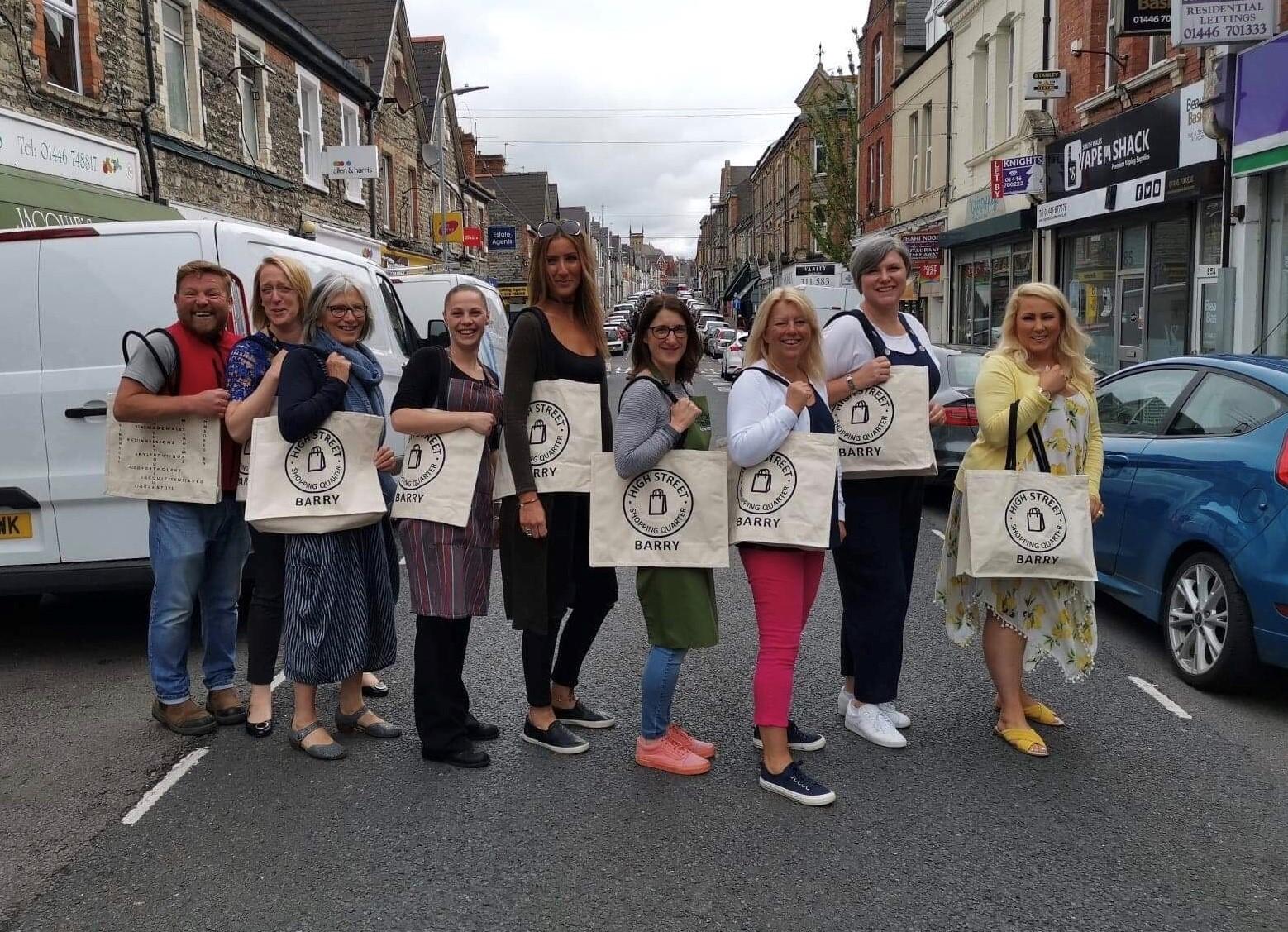 High Street Barry traders bag an environmental on trend idea