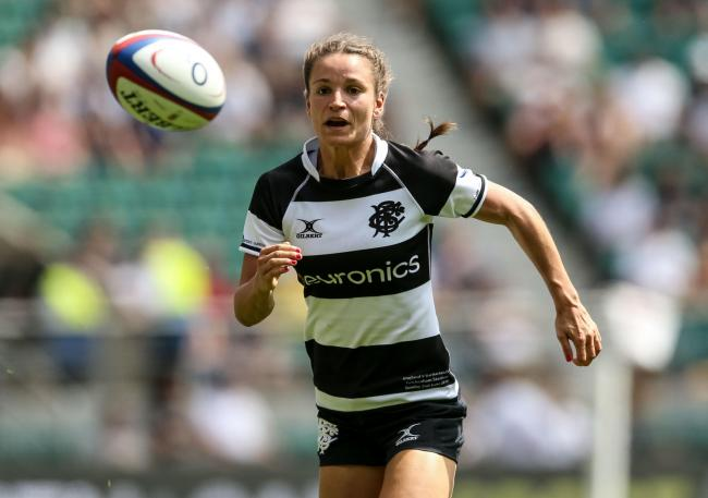 ON THE RUN: Wales winger Jasmine Joyce in action for the Barbarians