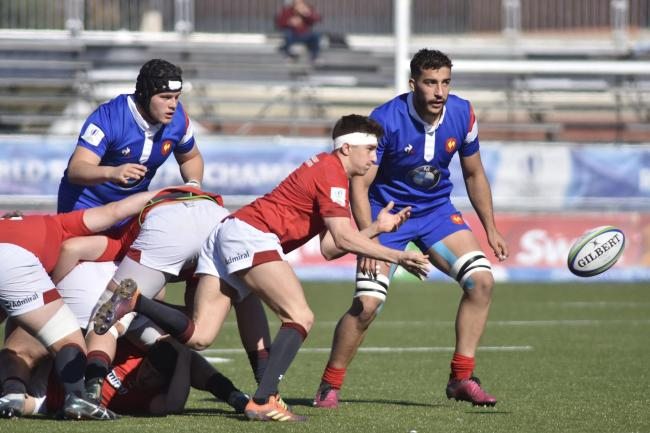SLICK SERVICE: Dragons scrum-half Dafydd Buckland spreads play for Wales World Rugby U20 Championship clash with France (Picture: World Rugby)